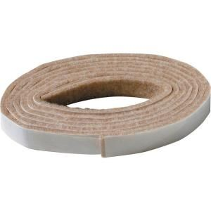 Everbilt 1 2 In X 58 In Heavy Duty Self Adhesive Felt Strip 49818 At The Home Depot Mobile Felt Furniture Pads Furniture Pads Diy Furniture Projects