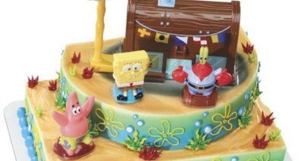 Spongebob Squarepants And The Krusty Krab Cake Topper