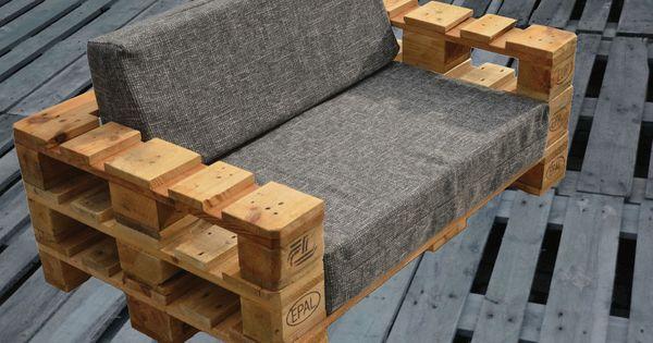 lounge gartenm bel 2 sitzer palettenm bel terrasse. Black Bedroom Furniture Sets. Home Design Ideas