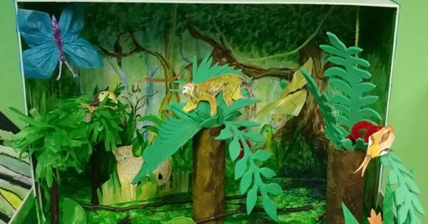 Rainforest Dioramas Are Often Made From An Shoe Box To Start