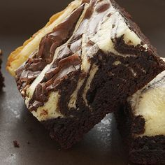 Chocolate Cheesecake Marbled Brownies Delicious Snacks Desserts Desserts Chocolate Frosting Recipes