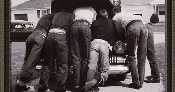 """OWEN /""""BOYS WITH THEIR FIRST CAR/"""" PRINT BY A.Y"""