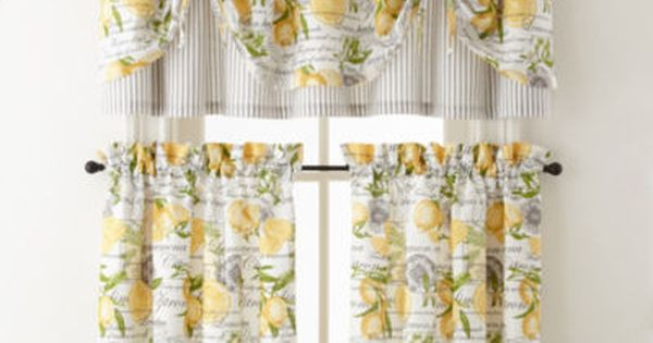 Home Expressions Lemon Zest Rod Pocket Tie Up Valance Tie Up Valance Valance Summer Home Decor
