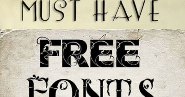 12 Free Fonts - for art projects!