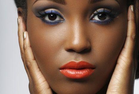 African American Makeup Tangerine Lip African American