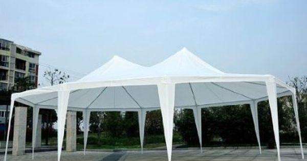 Outsunny 29 X 21 10 Wall Large Party Gazebo Tent White Party Tent Tent Sale Gazebo