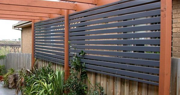 Fence With Privacy Screen Outdoor Decorating Pinterest