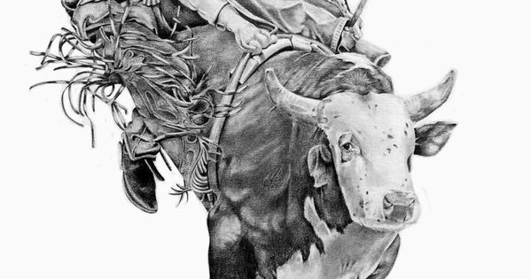 Bull Riding Drawings Bull Rider By Graphiteartistaz On