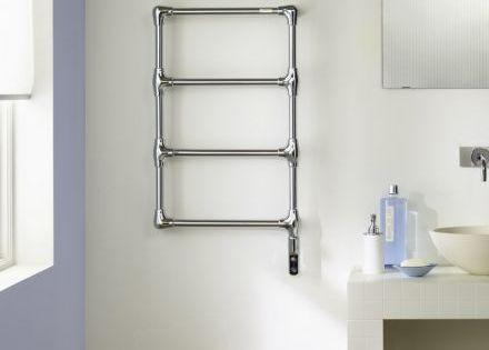 Radiateur s che serviettes en laiton chrom pour salle de for Puissance radiateur seche serviette