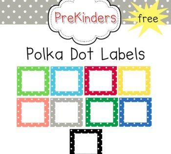 Free Polka Dot Classroom Labels Classroom Labels Polka Dot Classroom Polka Dot Labels