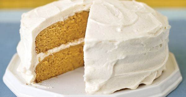 Pumpkin Layer Cake with Spiced Frosting   Recipe