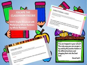 Digital Breakout Escape The Classroom Freebie Classroom Freebies Escape The Classroom Summer Writing Prompts