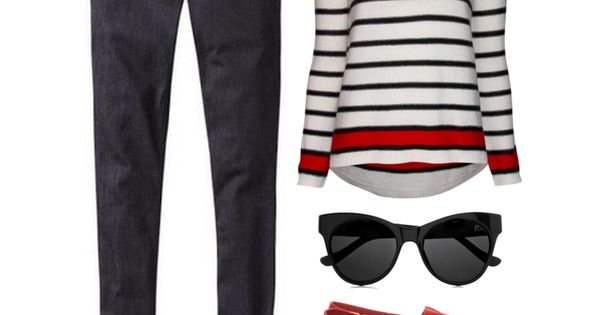 First trimester PregnancyFashion: This look pairs skinny jeans with a loose but