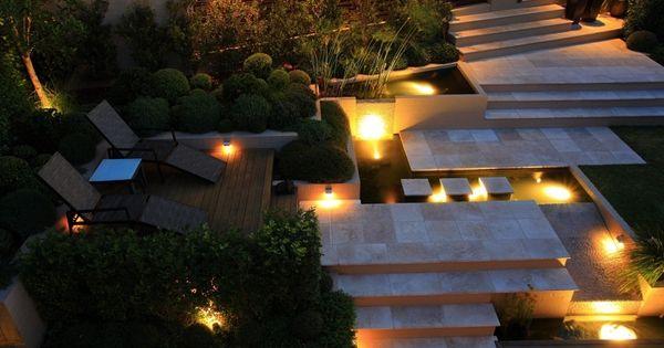 ... idées sur léclairage de jardin moderne  Piscines, LED et Terrasse