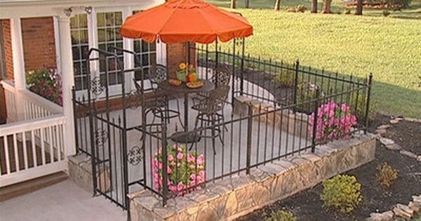 how to install a fence around a courtyard - Patio Fence Ideas