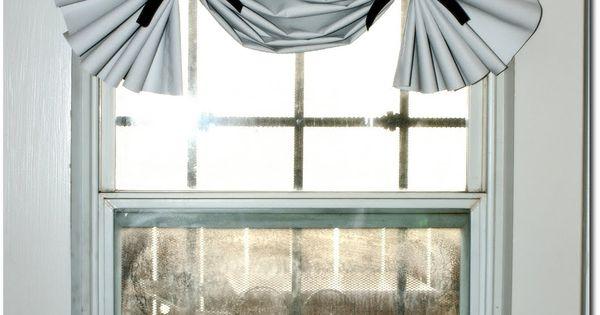 Back/garage door window treatment, magnetic curtain rod   garage ideas ...