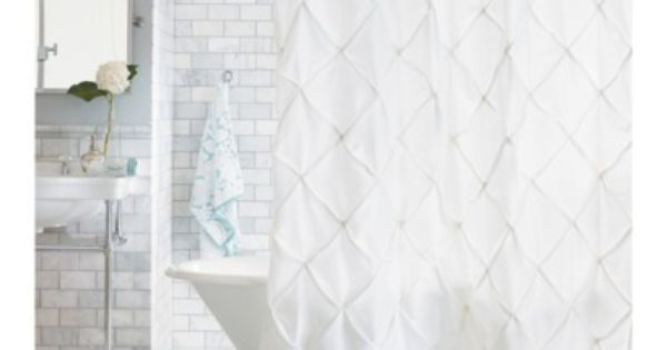 Pinch Pleat Shower Curtain Snow White Threshold With Images