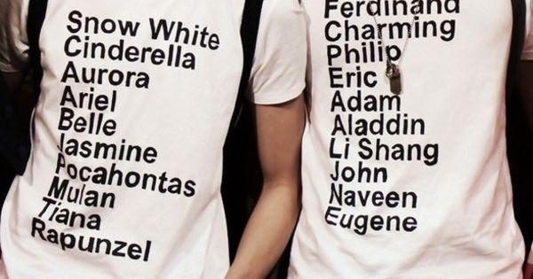 Cute couple's shirt!