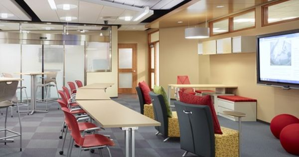Modular Classroom Cerritos College ~ Caper chairs stools everywhere tables celeste lounge