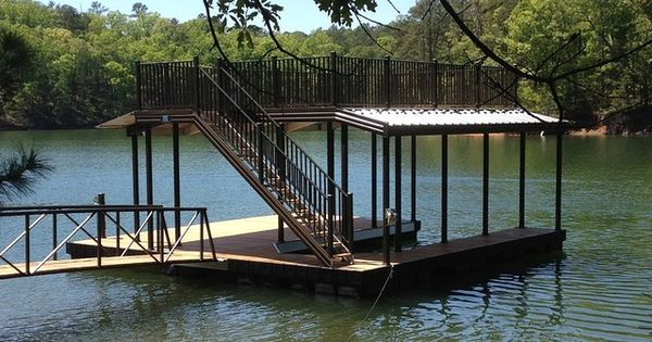 Covered Double Deck Floating Water Dock Casey Custom