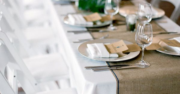 Burlap Wedding - DIY Table Runners By San Francisco Wedding Planner