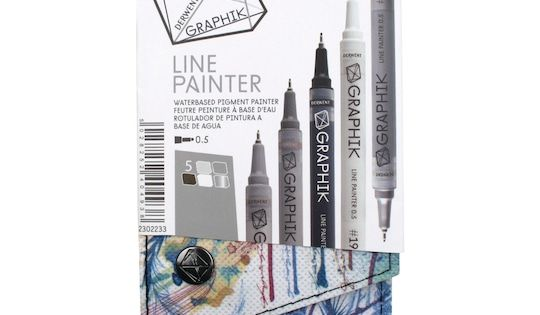 Derwent Graphik Line Painter Marker 5 Color Set 4 Michaels