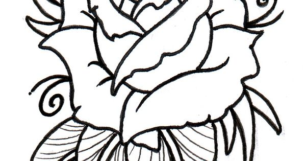Neo Traditional Rose Outline by vikingtattoo.deviantart ...