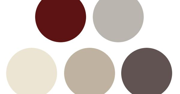 Colour palette burgundy cream and grey kitchen - Gray and cream color scheme ...