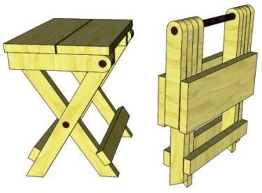 D04 Folding Stool Stool Woodworking Plans Folding Wooden Stool