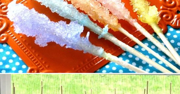 Make your own rock candy - good science fair project!