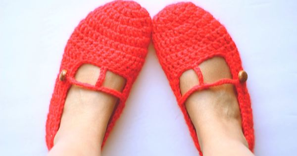 Fab: Red slippers | porcupine knits | Pinterest | Slippers, Red and ...