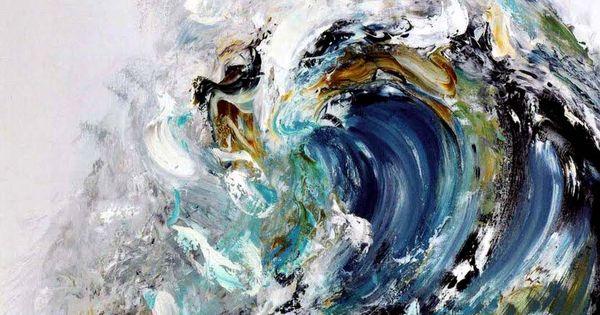 ocean wave painting.