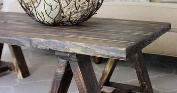 Sawhorse Coffee Table Free Diy Plans Beautiful Hunting And Engineers