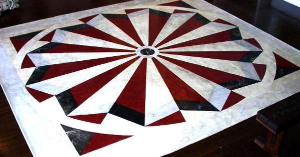 Hand painted floor cloths painting small house addict for How to paint a floor cloth