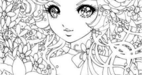 Coloriage visage manga coloriages adultes pinterest - Coloriage visage manga ...