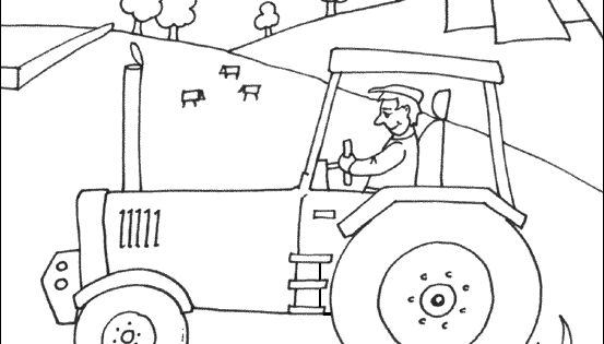 Tractor Coloring Printable
