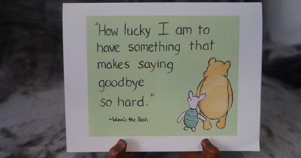 Small Tatty Teddy Me to You GOODBYE is a hard word Greeting Card