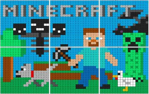 Minecraft Subtraction Mural Coloring Squared Minecraft Quilt Minecraft Coloring Pages Pokemon Coloring Pages