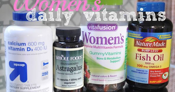 Essential daily vitamins for women according to dr oz for Dr oz fish oil