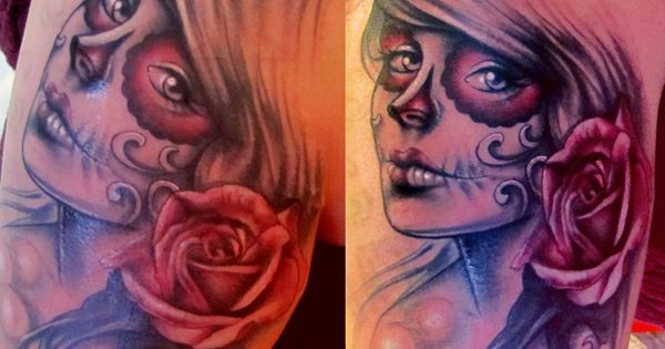 day of dead tattoo drawing - Google Search