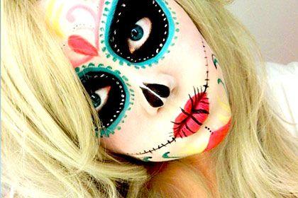 Day of the Dead sugar skull make-up.. Halloween idea