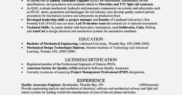quality engineer resume sample pdf resume template resume - quality engineer sample resume
