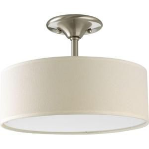Progress Lighting Inspire Collection 13 In 2 Light Brushed Nickel Semi Flush Mount P3939 09 Semi Flush Mount Lighting Ceiling Fixtures Progress Lighting