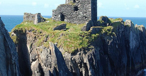 O'Driscoll Castle - County Cork, Ireland. Hmmm...I wonder. My people are from