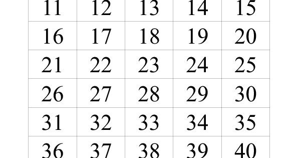 This is a picture of Adorable Free Printable Numbers 1-50