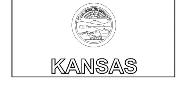 Kansas state flag coloring page a cub scout us color for Kansas flag coloring page