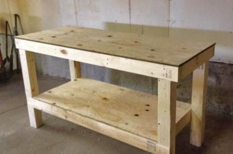 Workshop Countertop Materials : Easy DIY Garage Workshop Workbench (Knock-Off Wood) Garage Workshop ...
