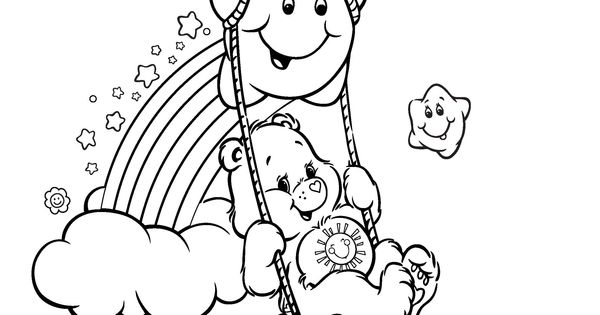 Color in some fun with this Funshine Bear coloring page