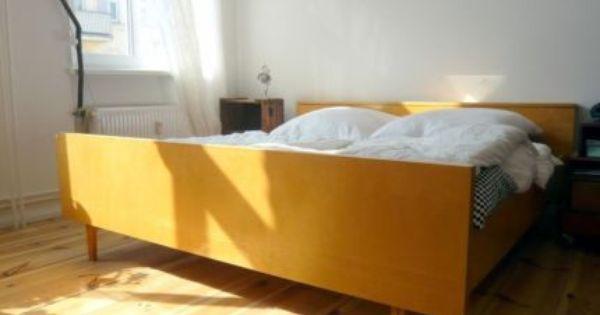 50er 60er Jahre Retro Bett Vintage Style Mit Lattenrost Haus Deko Zimmer Bett