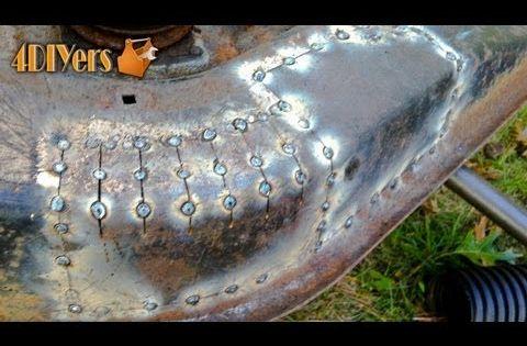 Diy Sheet Metal Repair Patching Youtube Welding Projects Welding Welding Jobs